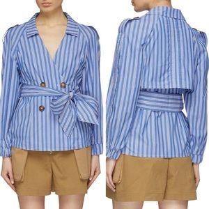 C/MEO Collective Motivations Blue Stripe Shirt